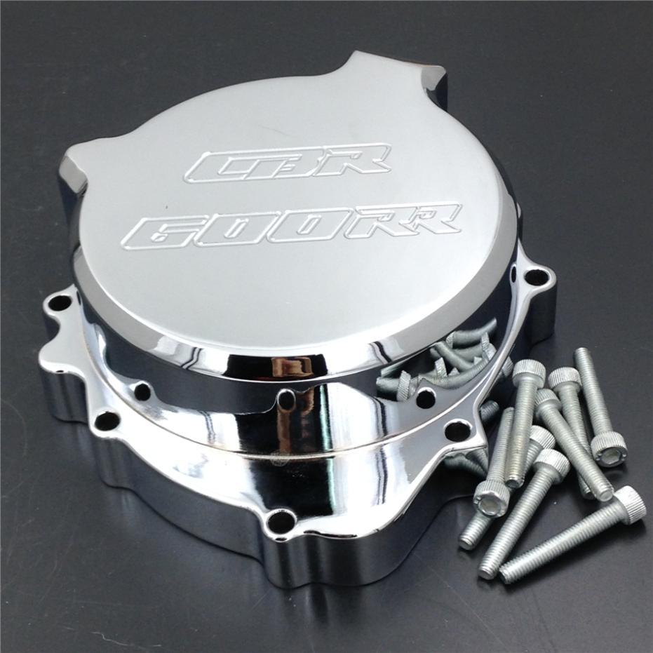 For Motorcycle Honda CBR600RR 2003-2006 03-06 CHROME left side Motorcycle Engine Stator cover motorcycle parts engine stator cover crankcase with gasket for honda cbr600rr 2003 2006 2004 2005 cbr600 rr cbr 600rr new