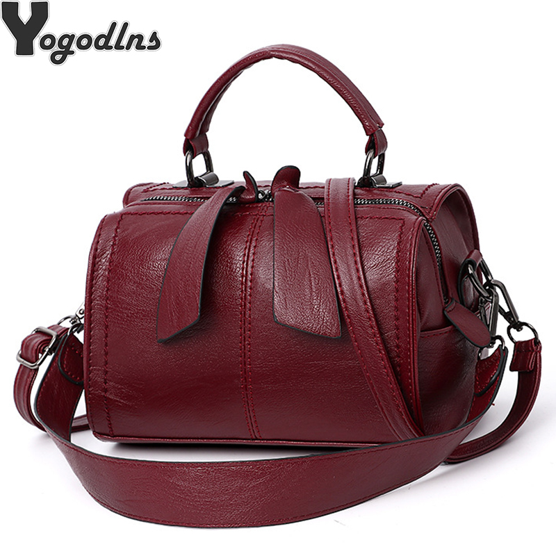 Handbag Bolsa Feminina Brand New Fashion Women Tote Bag With A Pillow Bag High Quality PU Solid Shoulder Messenger Bags