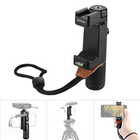 SK PSC1 Handheld Grip Smartphone Clip Clamp Holder Support Stand Bracket Tripod Mount Adapter for Phone