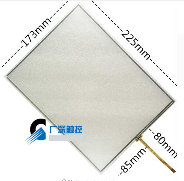 10.4 Inch 4 Wire Resistance Touch Screen 225*173