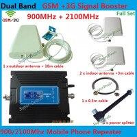 Горячая Распродажа Регулируемый ретранслятор GSM/3g сотовый телефон повторитель сигнала усилитель с двухдиапазонным 900 и 2100 МГц Мобильный gsm