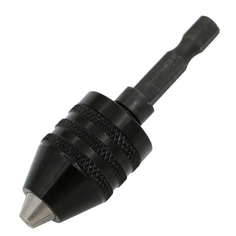 0.3-6.5mm Mini Quick Change Chuck Hex Shank  Adapter Black  Multi Keyless Drill Bits Diameter Power Rotary Tools