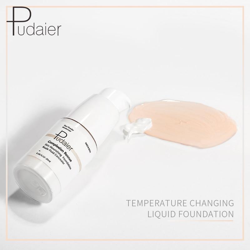 Foundation Base Makeup Waterproof Temperature changing Liquid Foundation Cream 40 g Soft Matte Long Wear Oil Control Concealer