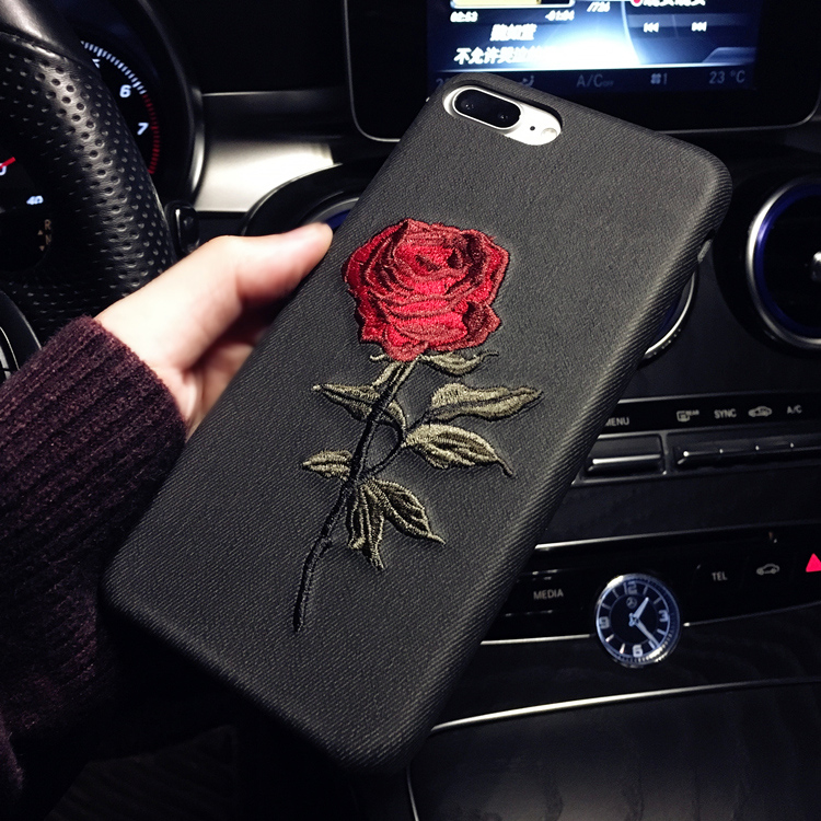 HTB11WIPRFXXXXXgXpXXq6xXFXXXq - Hot Sale! Elegant Embroidery Rose Flower phone Case for iPhone 6 /6S /Plus Light Women Stylish Art Vintage phone Back Cover PTC 292