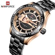 NAVIFORCE деловые мужские часы Лидирующий бренд нержавеющая сталь Военная Униформа кварцевые часы для мужчин водостойкие Авто Дата Мужской дропшиппинг