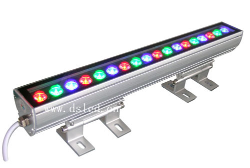 IP65,CE,good quality, high power Linear 18W RGB LED wash light,Linear RGB LED wall washer,18*1W,24VDC,DS-T11-50cm-18W-RGB, 24v 100 cm linear bar 60w rgb led wall washer light fcc saa ce