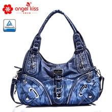 Angelkiss, дизайн, женская сумка Хобо из искусственной кожи высокого качества, женская сумка для отдыха, большие сумки на плечо, Повседневная сумка для покупок