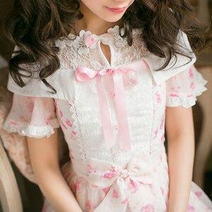 Image 4 - プリンセス甘いロリータドレス新しいキャンディ甘いスリム半袖和風C22AB7066