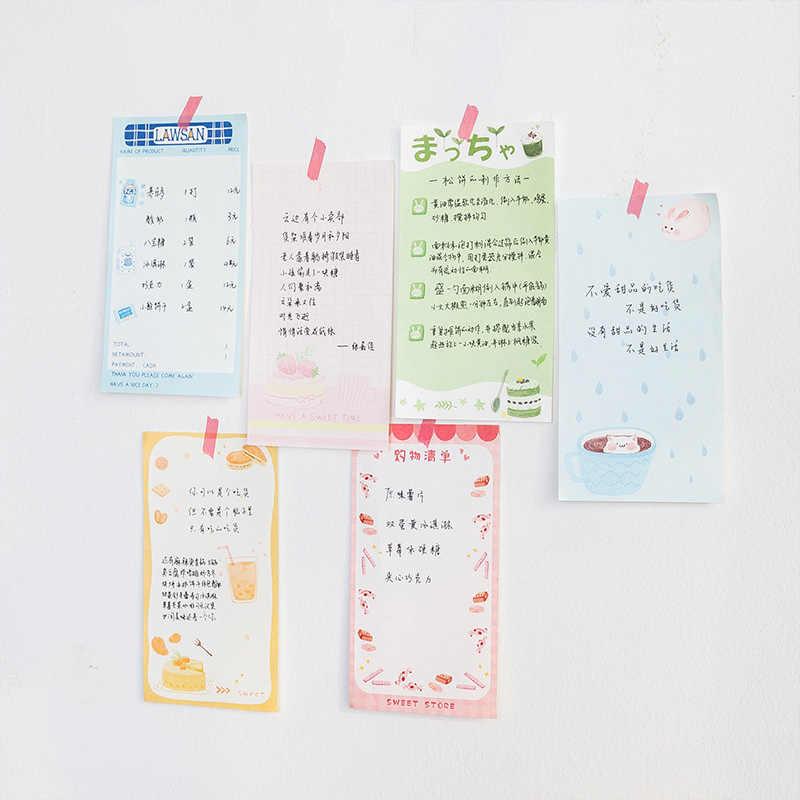 Mohamm Милая Закусочная серия Kawaii Липкие заметки офисный Декор блокнот бумажные принадлежности для отправки почтой украшения японские канцелярские принадлежности