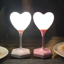 2019 New Heart-Shaped Silicone Lamp Remote Dimming Atmosphere Romantic LED Table Light Heart Accent Lamp Sensor USB Night Lights