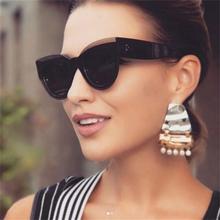 MIZHO Fashion Cat Eye Sunglasses Women Brand Designer Vintage Sun glasses Female 2019 New Gradient Sunglass Retro UV400 Shades