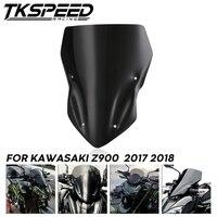 Motorcycle Windshield Windscreens Double Bubble Air Wind Deflector For Kawasaki Z900 Z 900 2017 2018 Smoke Black