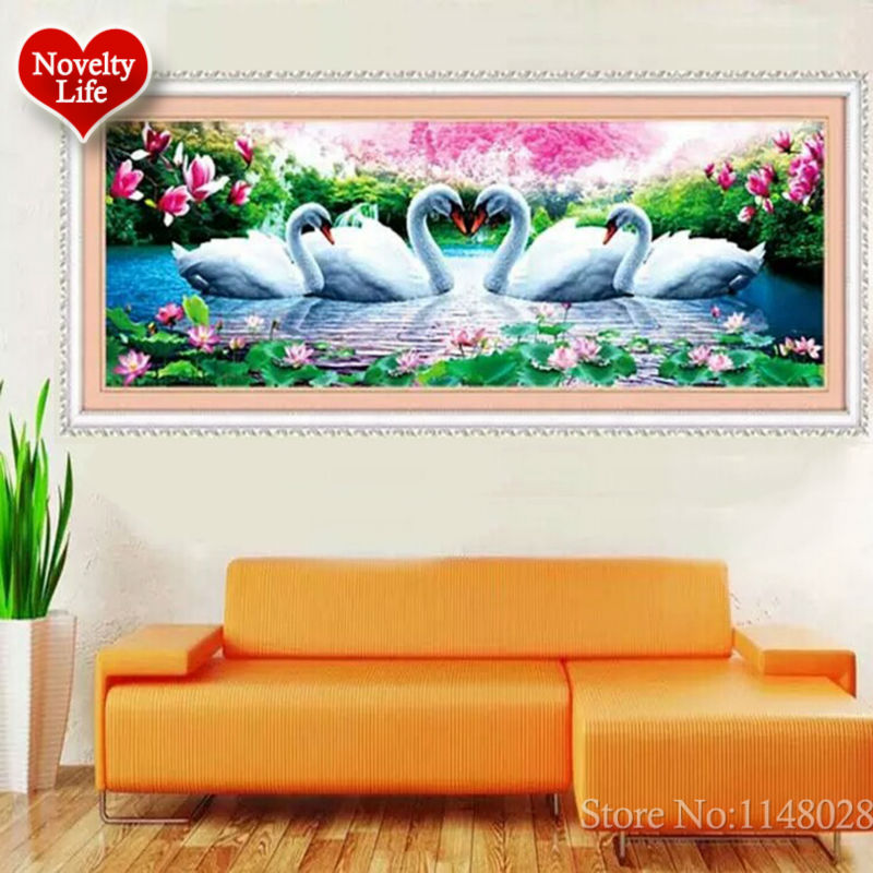 5D 3D Diy Diamond Embroidery Crystal Painting Flowers Swans Love Magnolia Picture With Colored Rhinestones Wedding Decoration-in Diamond Painting Cross Stitch from Home & Garden on AliExpress