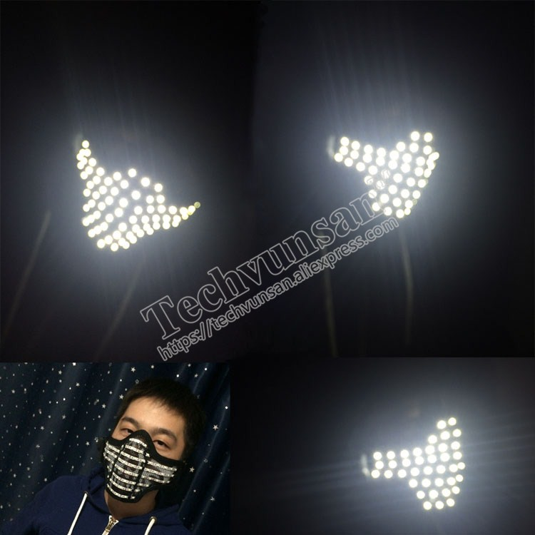 LED luminescent mask Light Mask Hero Face Guard DJ mask Party Halloween Birthday LED Masks for show Nightclub cool product