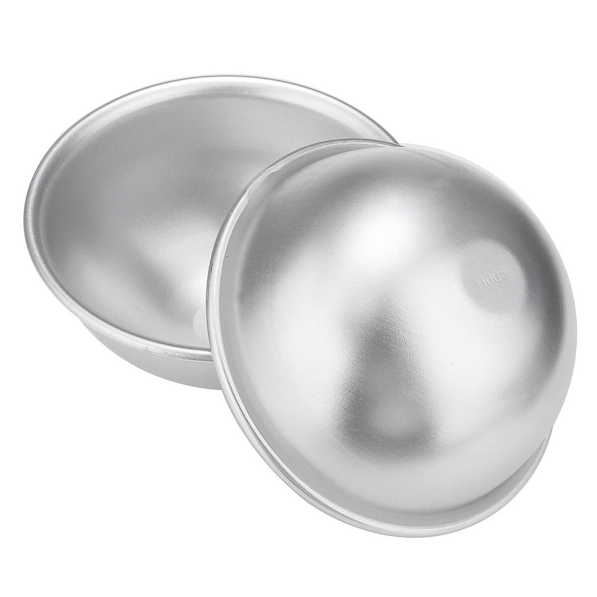 2/4/6pcs 3D 8cm Bath Bomb Mold Metal Aluminum Alloy Ball Sphere Shape Bath Salt Bomb Handmade DIY Bathing Salt Making Tools