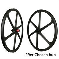 29er carbon 3k 6 spokes wheels mountain bike six spoke wheelset 27.5 inch MTB bicycle parts 26er for sale 650B DIY bicycles part