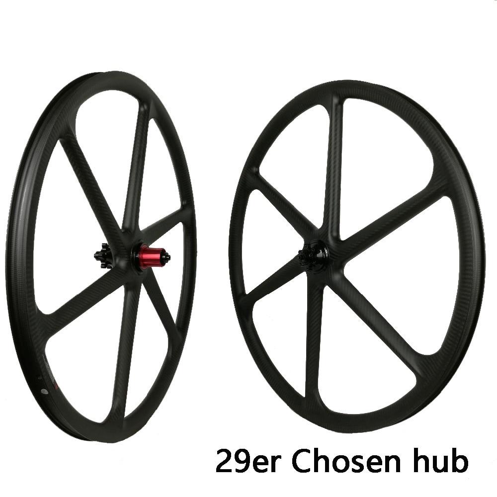 29er carbon 3k 6 spokes wheels mountain bike six spoke wheelset 27.5 inch MTB bicycle parts 26er for sale 650B DIY bicycles part стоимость