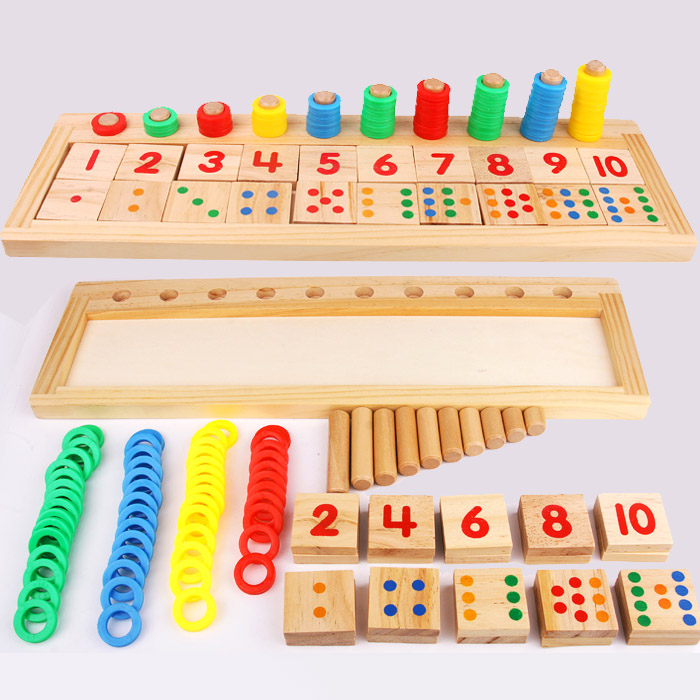 Kindergarten Mathematics Wooden Teaching Aids Donuts Logs ...