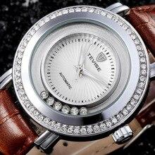 Hombres famosos Relojes de Diamantes Marca TEVISE Mecánico Automático Relojes A Prueba de agua Reloj de Pulsera Del Relogio masculino