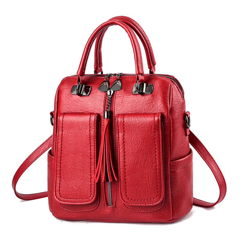 Z.L.D. new Multifunctional female bag Laptop backpack woman pu leather luxury backpack Teenage girl backpack student school bags-in Backpacks from Luggage & Bags