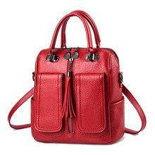 Z.l.d. novo multifuncional feminino saco portátil mochila mulher couro do plutônio luxo mochila adolescente mochila estudante sacos de escola