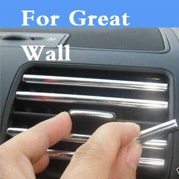 Bande de décoration de voiture sortie d'air lame tuyères autocollants Pour Grande Muraille Coolbear Fleuri Hover Hover H3 Hover H5 H6 Voleex C10 C30