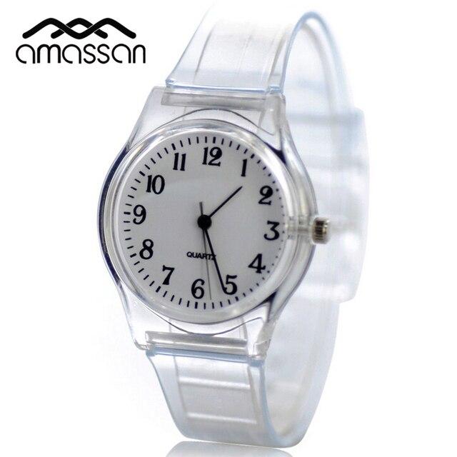 c0133d36bf56 Nuevo Estilo de Reloj de Cuarzo de Las Mujeres De Plástico Transparente  Molino de Viento Relojes