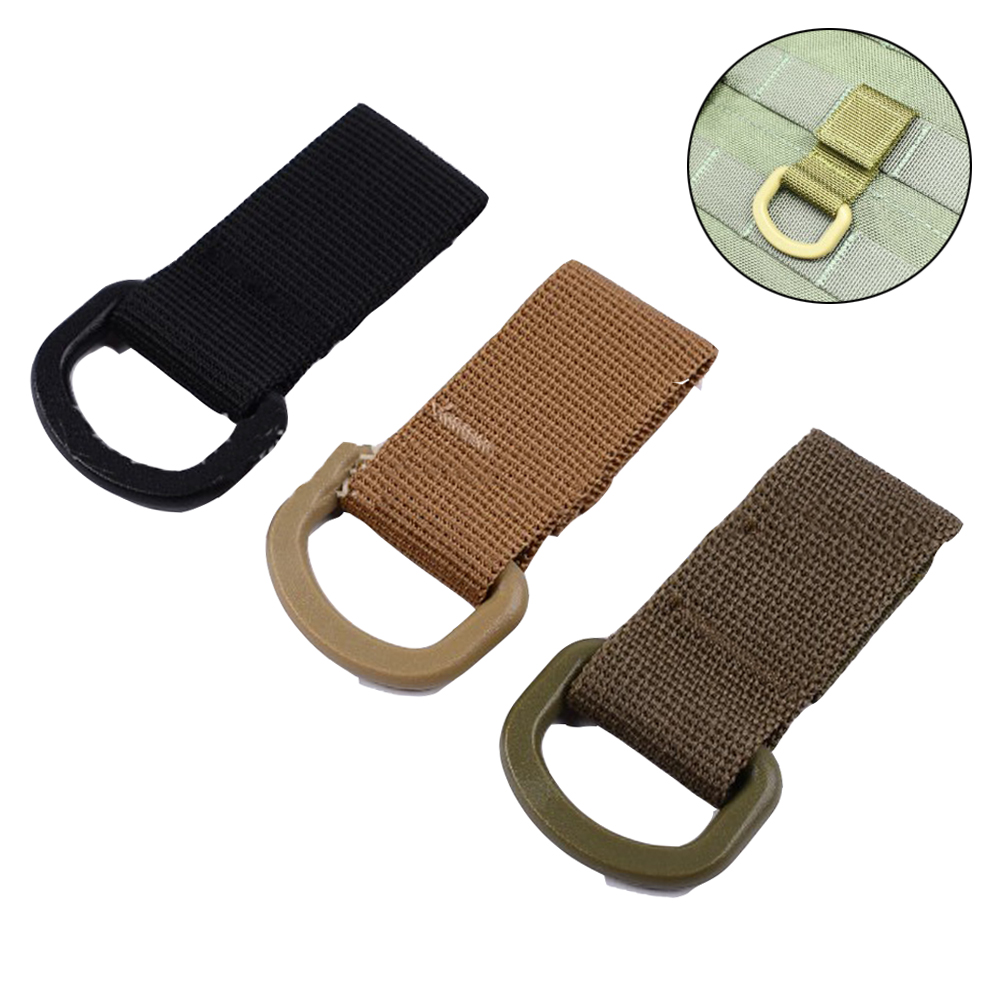 Outdoor Nylon Webbing Buckle Tactical Hanger Hook Carabiner Buckle Molle Carabiner Backpack Hanging Hook For Outdoor Accessory
