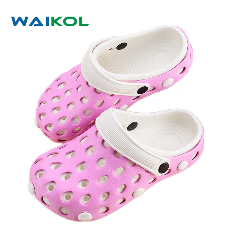 Waikol Summer Women Sandals Fashion Hollow Out Breathable Beach Slippers Flip Flops EVA Massage Casual Slippers wgznyn 2017 fashion women sandals summer breathable hollow out beach slippers shoes casual flat flip flops zapatos mujer