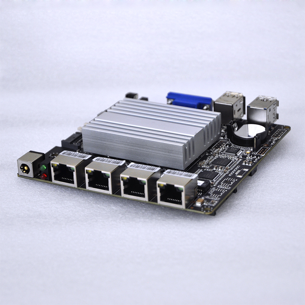 2017 4*LAN J1900 Mini ITX Motherboard fanless Pfsense itx board Q1900G4-M ultra thin pc d525 motherboard fanless mini itx motherboard with onboard ddr3 2gb ram