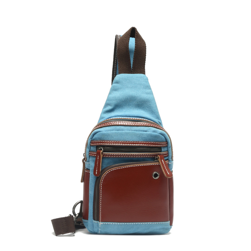 New Canvas Crossbody Bags For Men & Women Crazy Hores Leather Messenger Chest Bag Shoulder Sling Bag Large Capacity Bags H054 augur large capacity men women crossbody bag for pad handbags canvas shoulder bag messenger bag