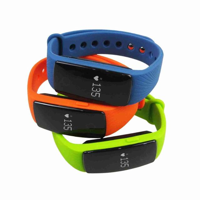 Hot selling ID 107 fitness tracker with heart rate ,sleep monitor,step pedometer,remote taking photos,anti-lost