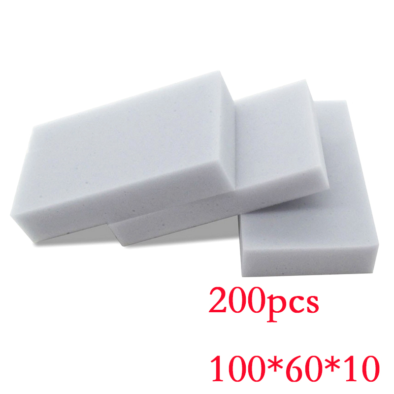 200 pcs Wholesale Gray Kitchen Car household cleaning Magic Sponge Eraser Melamine Cleaner,multi-functional Cleaning 100x60x10mm