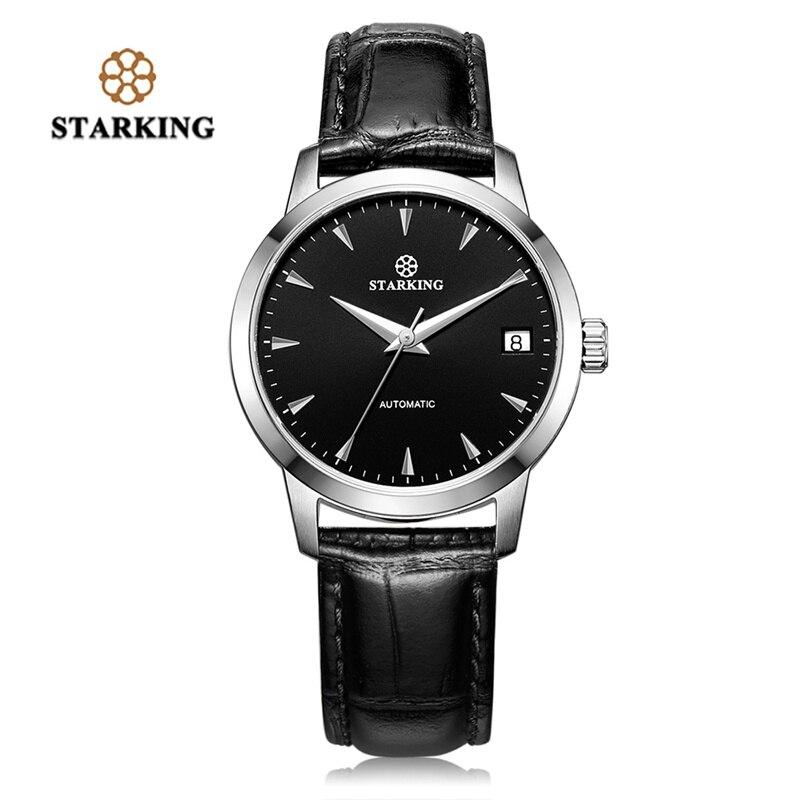 STARKING Luxury Watch Men Automatic Self wind Genuine Leather 5ATM Waterproof Business Male Wrist Watches relojes masculinos