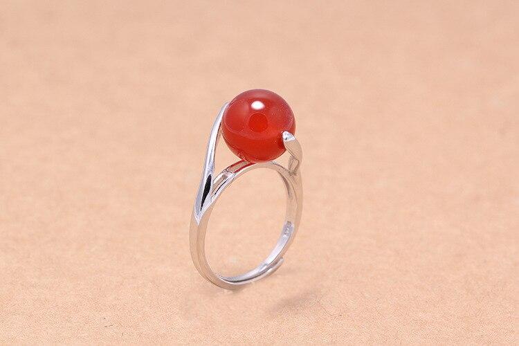 Anillo de acero inoxidable anillo de mujer 12mm plata Rose blancos piedras negras