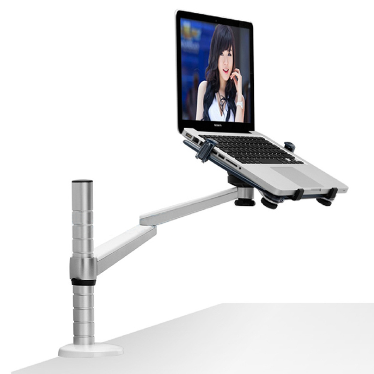 free standing dual arm monitor desk mount computer table stand and laptop notebook stand laptop. Black Bedroom Furniture Sets. Home Design Ideas