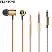 PLEXTONE X53M Magnet Movement Earphone Wire Control Earphones Metal Movement Earphone Microphone 3.5mm Plug for Iphone