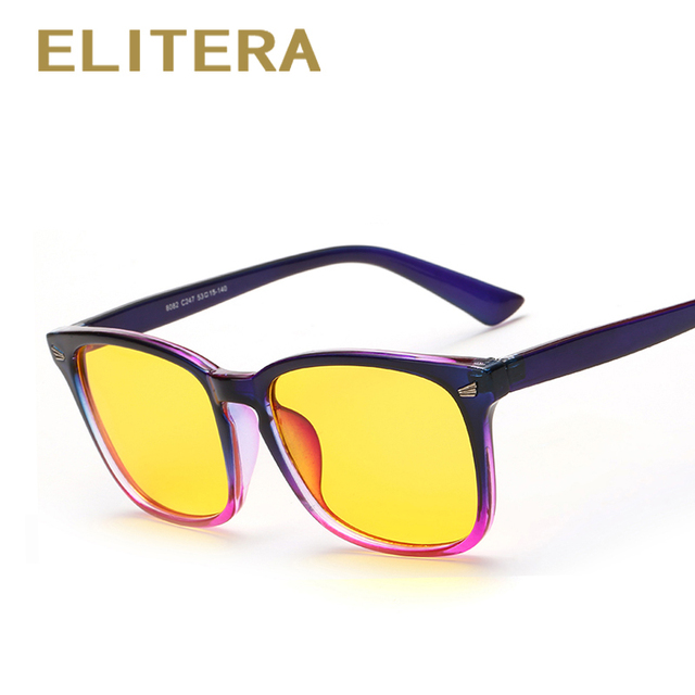 ELITERA Anti Blue Rays Computer Goggles Reading Glasses Radiation-resistant Glasses Computer Gaming Glasses Black