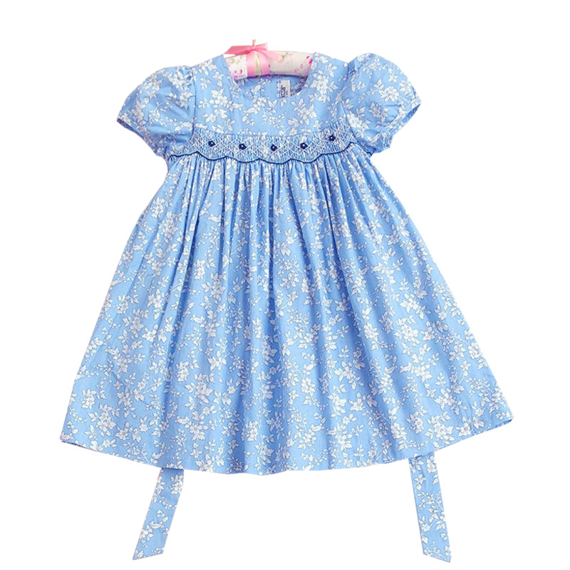 Boutique Toddler Baby Kids Girls Princess Jeans Casual Dress Sundress Clothes