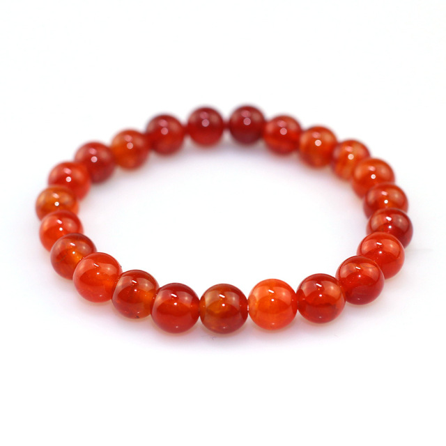 Red Chinese Stone Beaded...