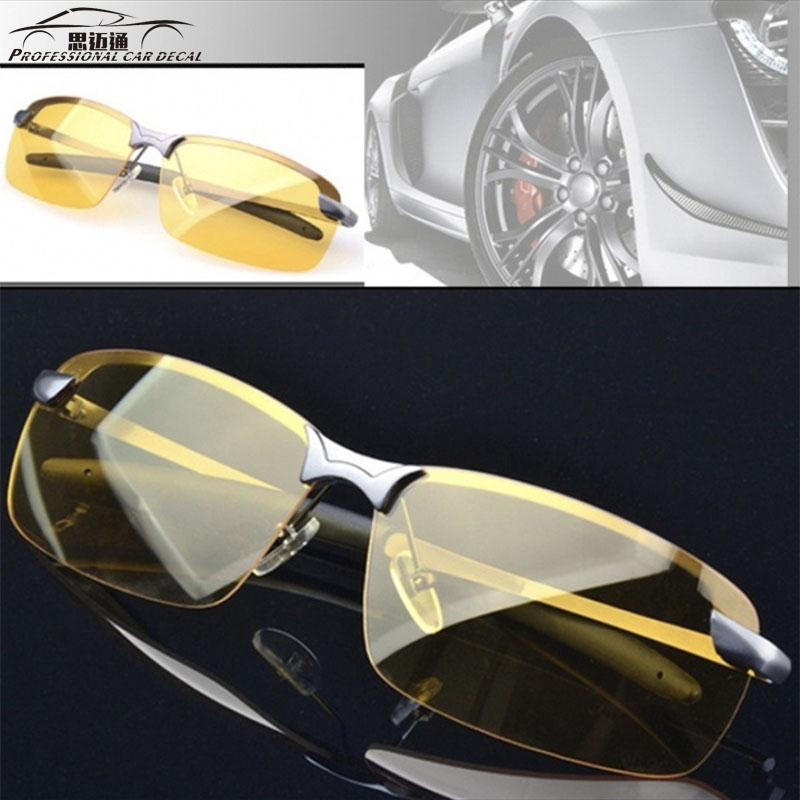 Men's High-end Night Vision Polarized UV400 Driving Glaaes Aviator Glasses For Car Accessories Driver's Automotive Goggles