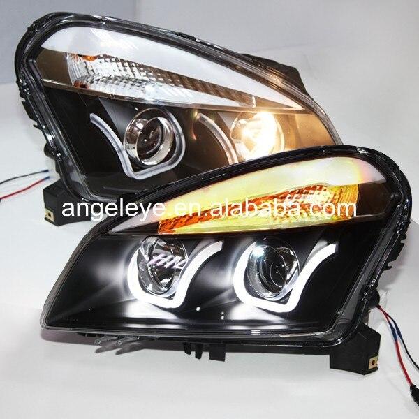 US $419.88  Dla Nissan Qashqai reflektor 2008 2012 rok U styl LED światło przednie LD ld led for nissanld lamp AliExpress
