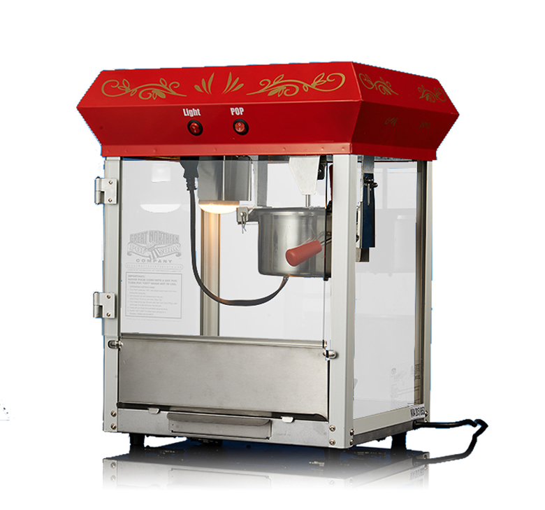 Electric Commercial Automatic popcorn machine with Insulation function 680W 6 OZ 220V pop 06 economic popcorn maker commercial popcorn machine with cart