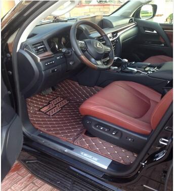 ¡Buena calidad! Alfombrillas de coche especiales para Lexus LX 570 5 asientos 2018 alfombras duraderas impermeables para LX570 2017-2008, envío Gratis