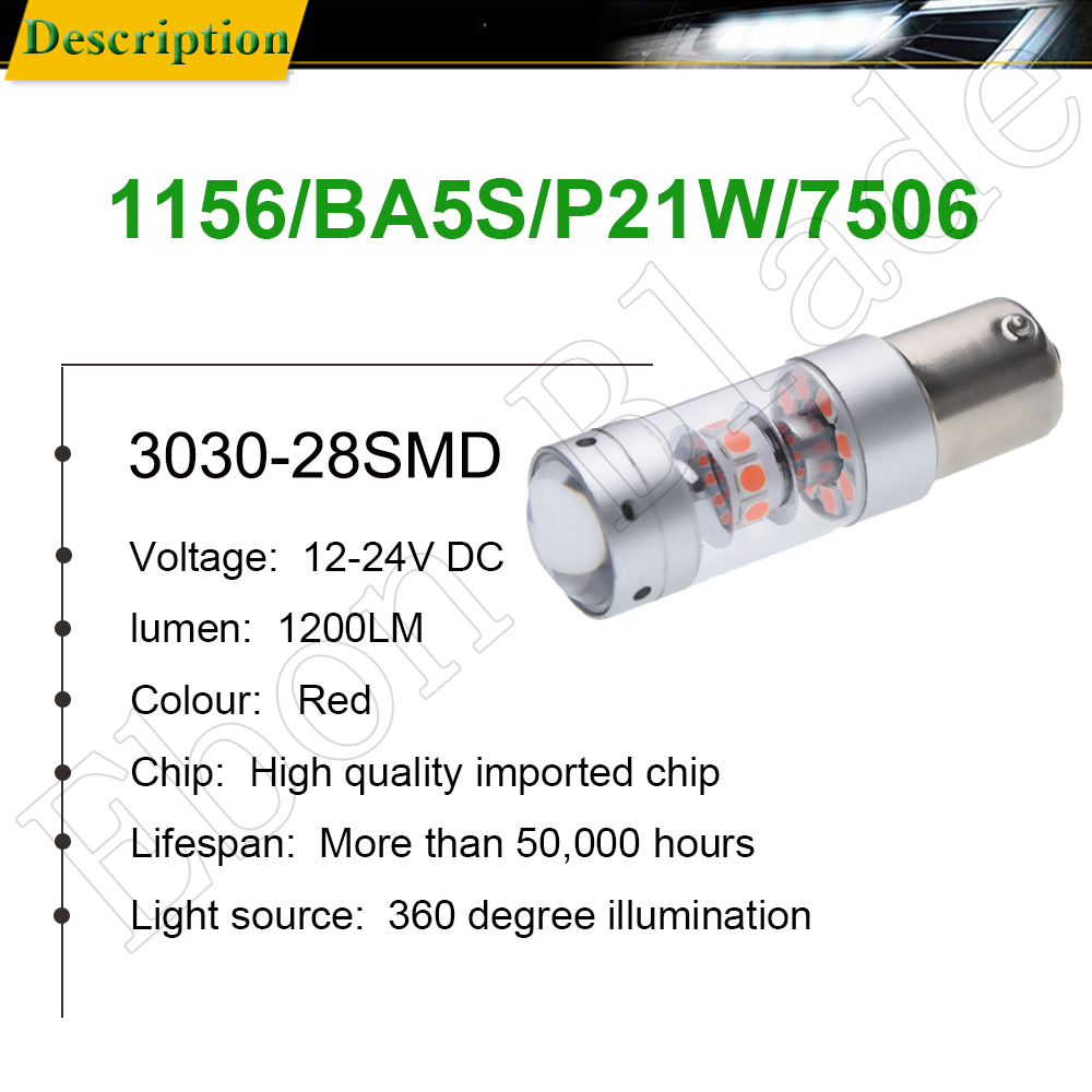 Image 2 - 1156 BA15S P21W 1157 BAY15D P21/5W Car LED Light 3030 140W Auto Brake Reverse Turn Signal DRL Bulb Lamp 12V 24V White Red Amber-in Signal Lamp from Automobiles & Motorcycles