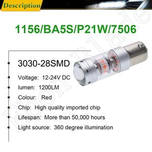 Image 2 - 1156 BA15S P21W 1157 BAY15D P21/5W Car LED Light 3030 140W Auto Brake Reverse Turn Signal DRL Bulb Lamp 12V 24V White Red Amber