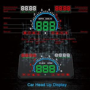 Image 2 - GEYIREN E350 OBD2 II HUD عرض سيارة 5.8 بوصة شاشة سهلة التوصيل والتشغيل السرعة الزائدة إنذار استهلاك الوقود عرض hud العارض