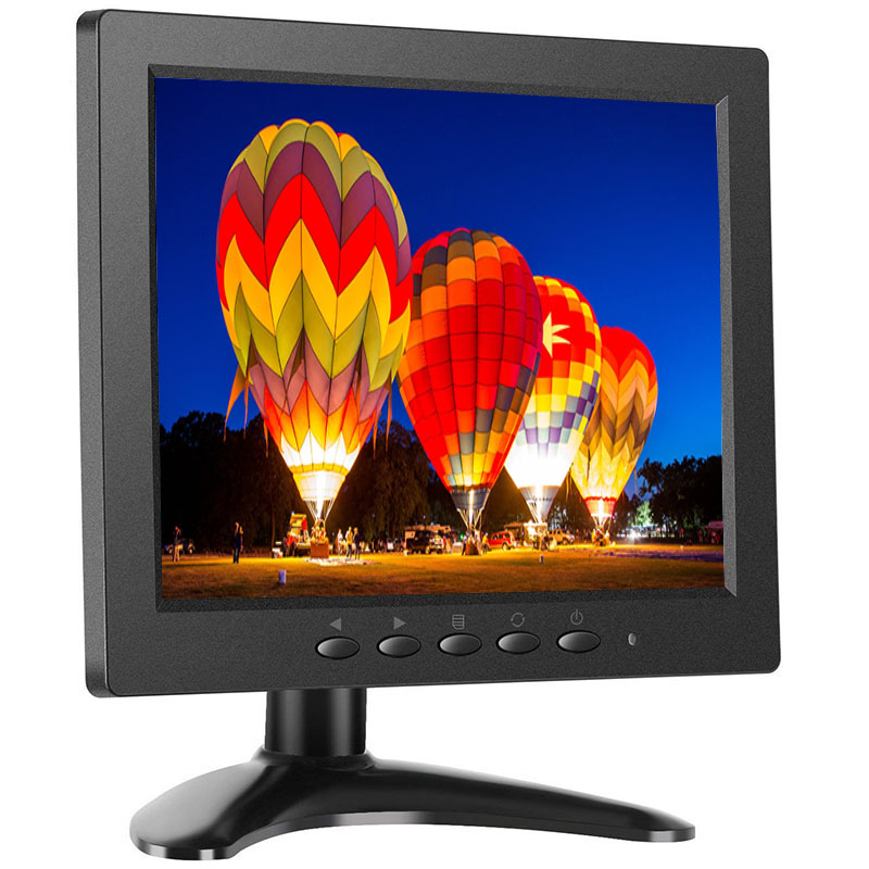 8 inch TFT LED Monitor 1024x768 Resolution Display Portable 4:3 IPS HD Color Video Screen Support HDMI VGA BNC AV USB Input 10 1 inch 4 3 lcd hd digital screen car monitor 2 video inputs av input stand alone monitor with vga hdmi av usb bnc tv sh10198