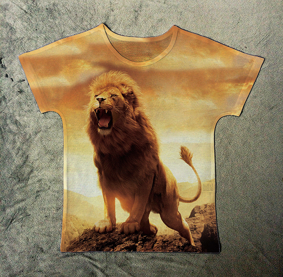 Track Ship+New Fresh Summer Hot T shirt Top Tee Fierce Wild Animal King  Lion Roar 1554-in T-Shirts from Women's Clothing & Accessories on