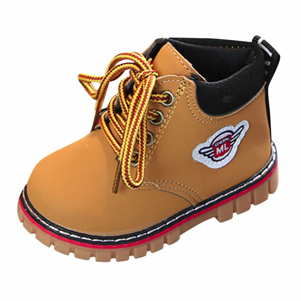 snow boots for boys Girls Top Selling Fashion Winter Soft Boots Warm Child Baby Martin Sneaker Warm Short Boots Anti Slip Shoes